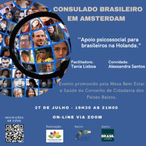 Apoio Psicossocial para brasileiros na Holanda